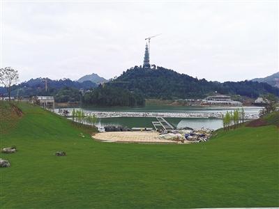 【黔南】绿博园水上舞台与音乐喷泉即将完工
